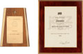 Music Memorabilia:Awards, Donovan Set of Awards, 1960s.... (Total: 2 Items)