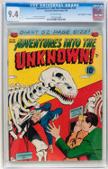"Golden Age (1938-1955):Horror, Adventures Into The Unknown #29 Davis Crippen (""D"" Copy) pedigree(ACG, 1952) CGC NM 9.4 Off-white pages...."