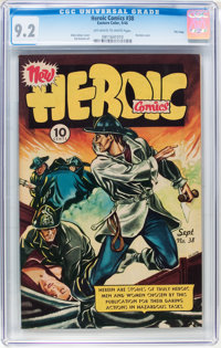 Heroic Comics #38 File Copy (Eastern Color, 1946) CGC NM- 9.2 Off-white to white pages
