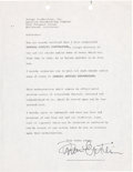 Music Memorabilia:Autographs and Signed Items, Brian Epstein Signed Letter to Selmur Productions (ABC TV'sShindig!) Regarding Payments (Circa 1964). ...