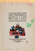 Music Memorabilia:Posters, Led Zeppelin - Cashbox Four-Color Separation Ad Art forThe Song Remains the Same (1976)....
