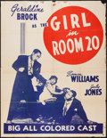 "Movie Posters:Black Films, The Girl in Room 20 (Astor Pictures, 1946). Poster (45"" X 55"").Black Films.. ..."