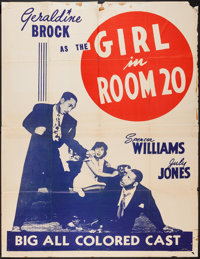 "The Girl in Room 20 (Astor Pictures, 1946). Poster (45"" X 55""). Black Films"
