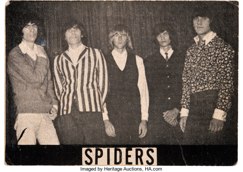 Alice Cooper As The Spiders Original Photo Business Card Lot