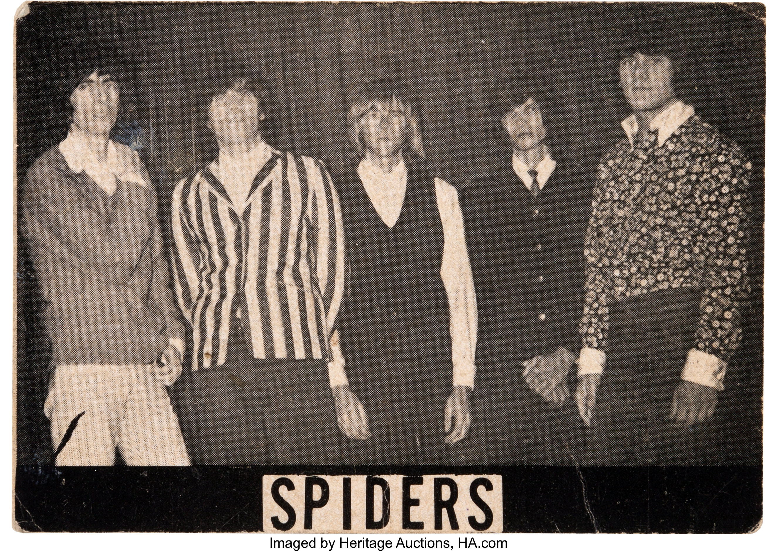 Alice Cooper as the Spiders Original Photo Business Card (1966). | Lot  #46557 | Heritage Auctions
