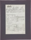 Original Comic Art:Miscellaneous, Hal Foster Prince Valiant Preliminary Sunday Comic Strip Original Art....