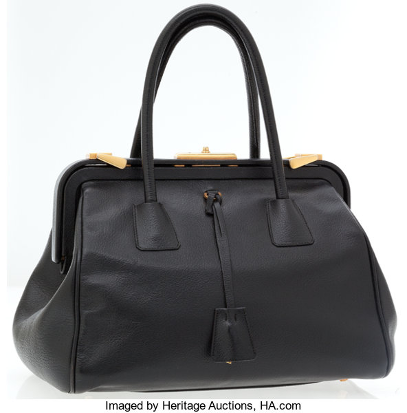 bdfe22aa127c Prada Black Leather Doctor Top Handle Bag. ... Luxury Accessories ...