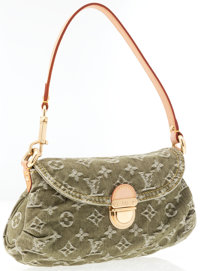 Louis Vuitton Green Monogram Denim Mini Pleaty Bag