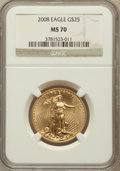 Modern Bullion Coins, 2008 $25 Gold Eagle 1/2 Oz MS70 NGC. NGC Census: (1732). PCGSPopulation (0). Numismedia Wsl. Price for problem free NGC/P...