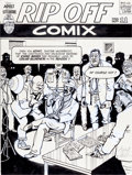 Original Comic Art:Splash Pages, Gilbert Shelton Rip Off Comix #11 Splash Page 13 OriginalArt (Rip Off Press, 1982)....