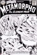 Original Comic Art:Covers, Ramona Fradon The Brave and the Bold #57 Metamorpho OriginCover Re-Creation Original Art (undated)....