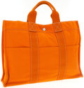 Luxury Accessories:Bags, Hermes Orange Canvas Fourre Tote Bag. ...