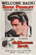 Music Memorabilia:Posters, Elvis Presley Jailhouse Rock Movie Poster (MGM, R-1960)....