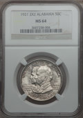 Commemorative Silver: , 1921 50C Alabama 2x2 MS64 NGC. NGC Census: (724/433). PCGSPopulation (750/523). Mintage: 6,006. Numismedia Wsl. Price for ...