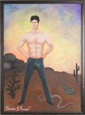 """Movie/TV Memorabilia:Props, A Mark Wahlberg-Related Oil Painting from """"Boogie Nights.""""..."""