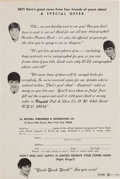 "Music Memorabilia:Memorabilia, Beatles Rare ""Special Offer"" Form for the 1966 American Tour Book (Raydell Publishing, 1966). ..."