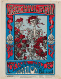 "Music Memorabilia:Posters, Grateful Dead ""Skeleton and Roses"" Avalon Concert Handbill FD26(Family Dog, 1966)...."