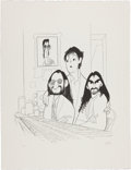 "Music Memorabilia:Autographs and Signed Items, Beatles: Al Hirschfeld Signed ""Beatles 2000"" Limited EditionLithograph, #79 of 120 (2000)...."