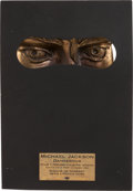 Music Memorabilia:Awards, Michael Jackson French Dangerous Bronze SculpturePromotional Award of his Face (1992)....