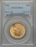 Indian Eagles: , 1932 $10 MS62 PCGS. PCGS Population (13238/28511). NGC Census:(15364/36609). Mintage: 4,463,000. Numismedia Wsl. Price for...