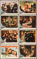 """Movie Posters:Comedy, Down in San Diego (MGM, 1941). Lobby Card Set of 8 (11"""" X 14""""). Comedy.. ... (Total: 8 Items)"""
