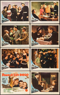 """Down in San Diego (MGM, 1941). Lobby Card Set of 8 (11"""" X 14""""). Comedy. ... (Total: 8 Items)"""