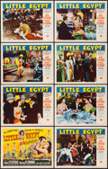 "Movie Posters:Comedy, Little Egypt (Universal International, 1951). Lobby Card Set of 8 (11"" X 14""). Comedy.. ... (Total: 8 Items)"