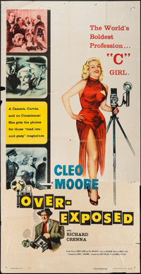"Over-Exposed (Columbia, 1956). Three Sheet (41"" X 79""). Bad Girl"