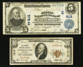 National Bank Notes:Maryland, Baltimore, MD - $5 1902 Plain Back Fr. 598 The Second NB Ch. #(E)414;. Cumberland, MD - $10 1929 Ty. 1 The Second... (Total: 2notes)