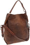 Art Glass:Daum, Henry Beguelin Brown Alligator Embossed Distressed Leather MaverickTote Bag. ...