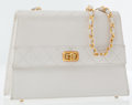 Luxury Accessories:Bags, Chanel White Leather Shoulder Bag. ...
