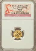 Australia, 2013-P G$5 Year of the Snake MS70 NGC. NGC Census: (0). PCGSPopulation (0)....