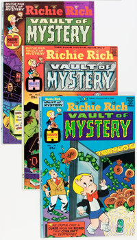 Richie Rich Vaults of Mystery File Copies Box Lot (Harvey, 1974-82) Condition: Average NM-