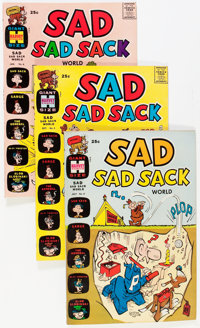Sad Sad Sack World File Copies Box Lot (Harvey, 1964-73) Condition: NM- except as noted