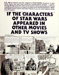 "John Severin Cracked Complete 4-Page Story ""If the Characters of Star Wars Appeared in Other Movies and TV Shows&qu..."