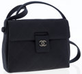 Luxury Accessories:Bags, Chanel Black Quilted Satin Evening Bag with Gunmetal Hardware. ...
