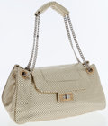 Luxury Accessories:Bags, Chanel Gold Perforated Leather Accordion Flap Bag with Gold andSilver Hardware. ...