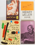 Books:Signed Editions, Henry Miller. SIGNED/INSCRIBED. Group of Four Foreign Language Editions. Various publishers. Includes Hebrew, German, Span... (Total: 4 Items)