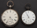 Timepieces:Pocket (pre 1900) , Two Silver Lever Fusee's Large Swiss & Chas. Jackson. ...(Total: 2 Items)