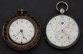 Timepieces:Pocket (pre 1900) , Marwik Markham Verge & Virginio & Girard French Verge withCalendar. ... (Total: 2 Items)