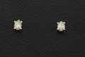 Estate Jewelry:Earrings, Light Yellow Diamond, White Gold Earrings. ...