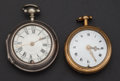 Timepieces:Pocket (pre 1900) , T. Bullock Bath Verge & Dupin London Verge Pocket Watches. ...(Total: 2 Items)