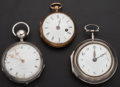 Timepieces:Pocket (pre 1900) , A Lot Of three Early Fusee's. ... (Total: 3 Items)