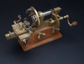 Timepieces:Other , Rare Swiss Late 19th Century Watchmakers Faceplate Engine. ...