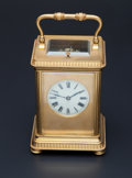Timepieces:Clocks, French Carriage Clock With Hour & Half-Hour Strike. ...
