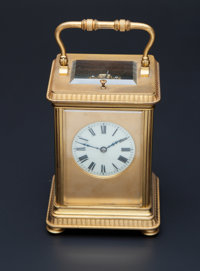 French Carriage Clock With Hour & Half-Hour Strike