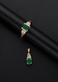 Estate Jewelry:Suites, Emerald, Diamond, Gold Jewelry. ... (Total: 2 Items)