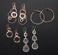 Estate Jewelry:Earrings, Rose Gold Finished, Silver Earrings, Ippolita. ... (Total: 4 Items)
