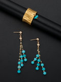 Estate Jewelry:Suites, Turquoise, Gold Jewelry. ... (Total: 2 Items)
