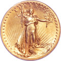 High Relief Double Eagles, 1907 $20 High Relief, Wire Rim MS61 PCGS. CAC....